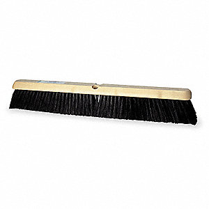"Tampico Push Broom, Block Size 24"", Hardwood Block Material"