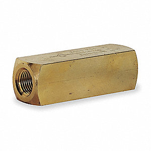 Hydraulic Check Valve, 2000 psi, 8.0 gpm, Brass