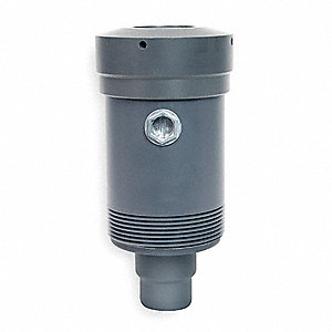 PVC Noncontact Ultrasonic Level Sensor, 0.9 to 50 ft. Range