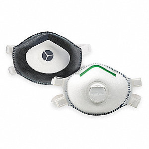 P100 Disposable Particulate Respirator, White, S, 1EA