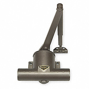 Hydraulic, Standard Duty, Left Hand, Dark Bronze Pot-Belly Door Closer