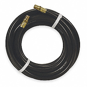 50 ft. PVC Air Hose, Max. Pressure: 300 psi, Black