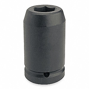 Impact Socket,1 In Dr,2-3/16 In,6 pt