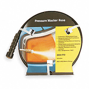 Pressure Washer Hose,1/4,25 ft,2600 psi
