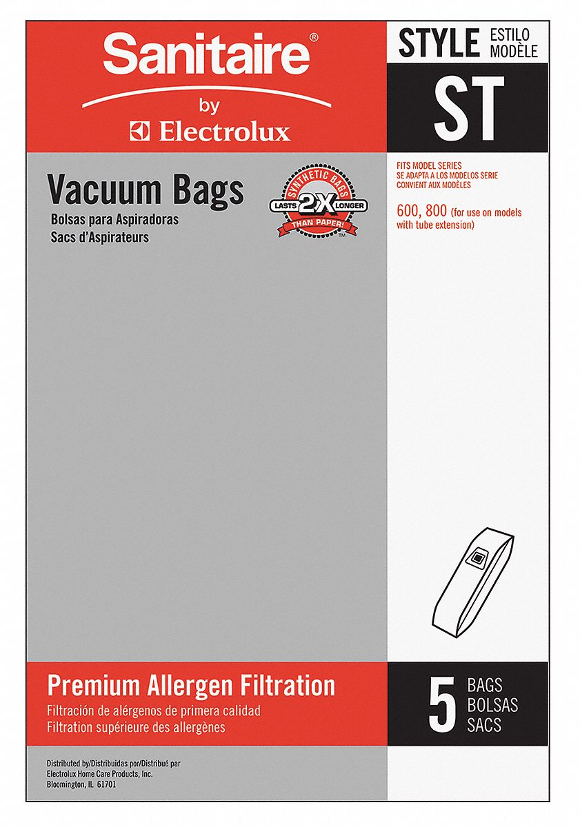Vacuum Bag,  Cloth,  2-Ply,  Standard Bag Filtration Type,  For Vacuum Type Upright Vacuum