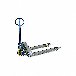 "Narrow Pallet Jack, 5500 lb. Load Capacity, Fork Size: 6-1/2""W x 48""L, Blue/Gray"