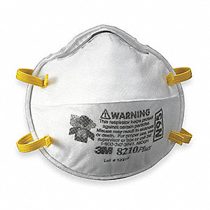 N95 Disposable Respirator, Molded, White, Mask Size: Universal, 20PK