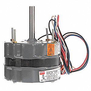 1/8 HP Direct Drive Blower Motor, Permanent Split Capacitor, 1550/1300/1050 Nameplate RPM