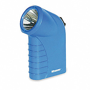 Incandescent Mini Flashlight, Plastic, Maximum Lumens Output: 20, Blue, 5.00""