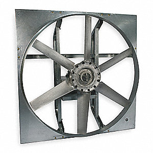 "48"" Heavy Duty Exhaust Fan with Motor and Drive Package, 3 Phase, Unassembled"