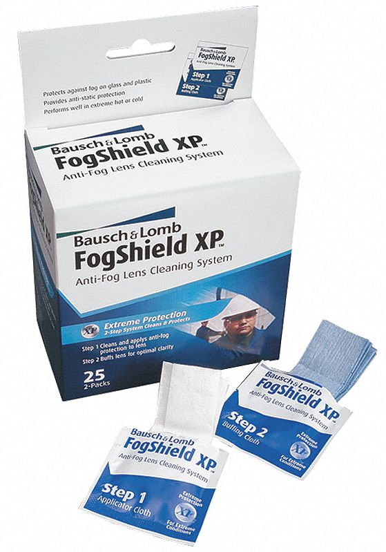 FogShield XP Pre-Moistened Towelette Station, Silicone Solution Type, Anti-Fog, Anti-Static Lens Tre