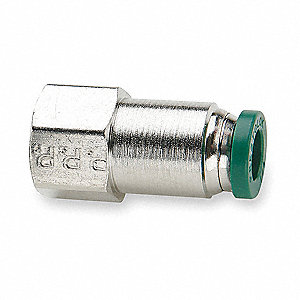 "Nickel Plated Brass Female Adapter, 3/8"" Tube Size"