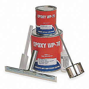 Gloss Epoxy Anti-Skid Paint, Black, 1 gal.