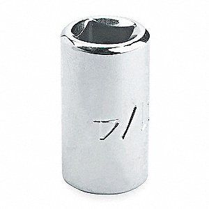 "5/16"" Alloy Steel Socket with 1/4"" Drive Size and Chrome Finish"