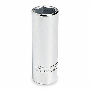 "1"" Alloy Steel Socket with 3/8"" Drive Size and Chrome Finish"