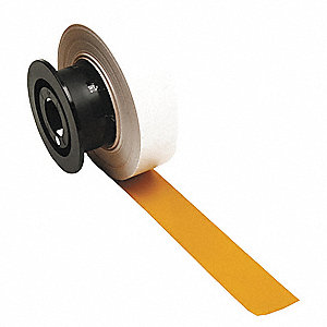 "Yellow Vinyl Film Label Tape Cartridge, Indoor/Outdoor Label Type, 110 ft. Length, 1-1/8"" Width"