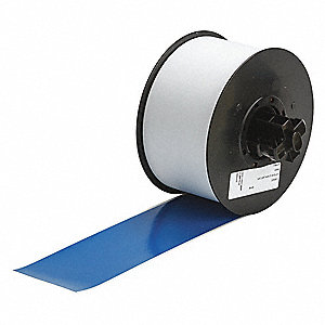 "Indoor/Outdoor Vinyl Film Label Tape Cartridge, Blue, 2-1/4""W x 110 ft."