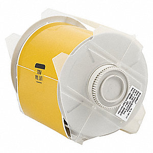 "Outdoor Vinyl Label Tape Cartridge, Yellow, 4""W x 50 ft."