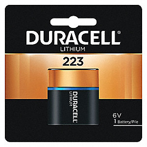Lithium Battery, Voltage 6, Battery Size 223, 1 EA