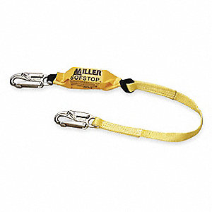 Shock-Absorbing Lanyard,3 ft.,1 Leg,Snap