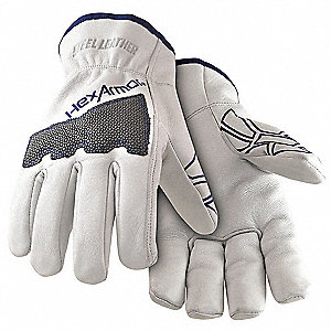 Cut Resistant Gloves, ANSI/ISEA Cut Level 5 Lining, White, 2XL, PR 1