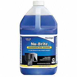 Liquid Condenser Cleaner, 1 gal., Blue Color, 1 EA