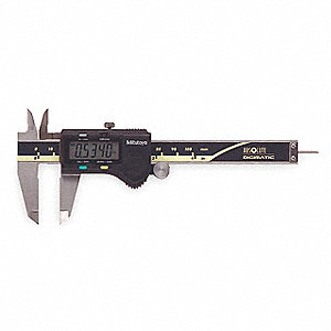 "Digital Caliper 0-4""/0-100mm Range, 0.0005""/0.01mm Resolution, Stainless Steel"