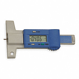 Digital Depth Gage,0-1 In,2.36 In Base