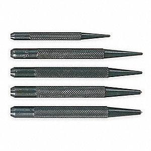 "3 and 4"" Center Punch Set with Black Oxide Finish"
