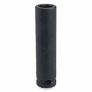 Impact Socket,3/8 In Dr,1/4 In,6 pt