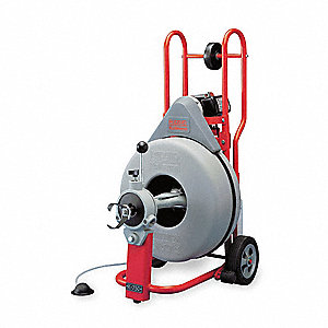 Drain Cleaning Machine, 3/4x100, 5/8x125
