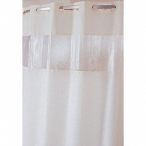 77H X 71W Polyester With Vinyl Bubble Look Window Shower Curtain Beige Hookless