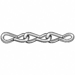 100 ft. Jack Chain, 12 Trade Size, 29 lb. Working Load Limit, For Lifting: No