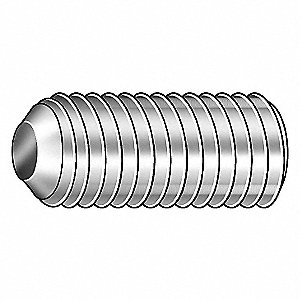 "1"" Nylon Socket Set Screw with Natural Finish; PK50"
