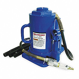 "10-1/4"" x 8-1/4"" Air/Manual Steel Bottle Jack with 30 tons Lifting Capacity"
