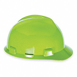 Front Brim Hard Hat, Hi-Visibility Yellow/Green, Hat Size: 6-1/2 to 8""