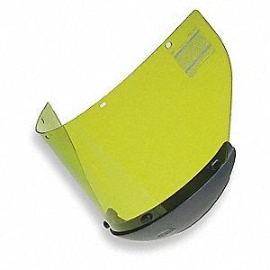 Arc Flash Faceshield,Propionate,Lt Green