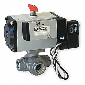 "1"" Double Acting Pneumatic Actuated Ball Valve, 1-Piece"