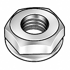 Grade 2 Steel Lock Nut with #6-32 Dia./Thread Size&#x3b; PK15000