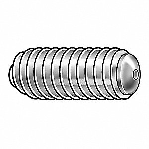 Socket Set Screw,Oval,3/8-16x1,PK50