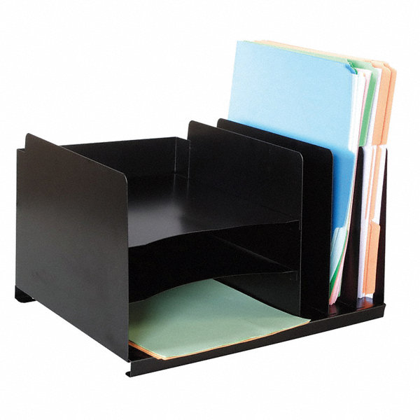 grainger approved file holder 8 3 4 in h black steel