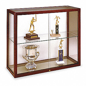 Wall Mounted Display Case,Cordovan
