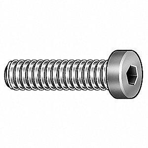 "#10-32 x 3/8"", Low, Socket Head Cap Screw, Alloy Steel, Steel, Black Oxide Finish, 100PK"