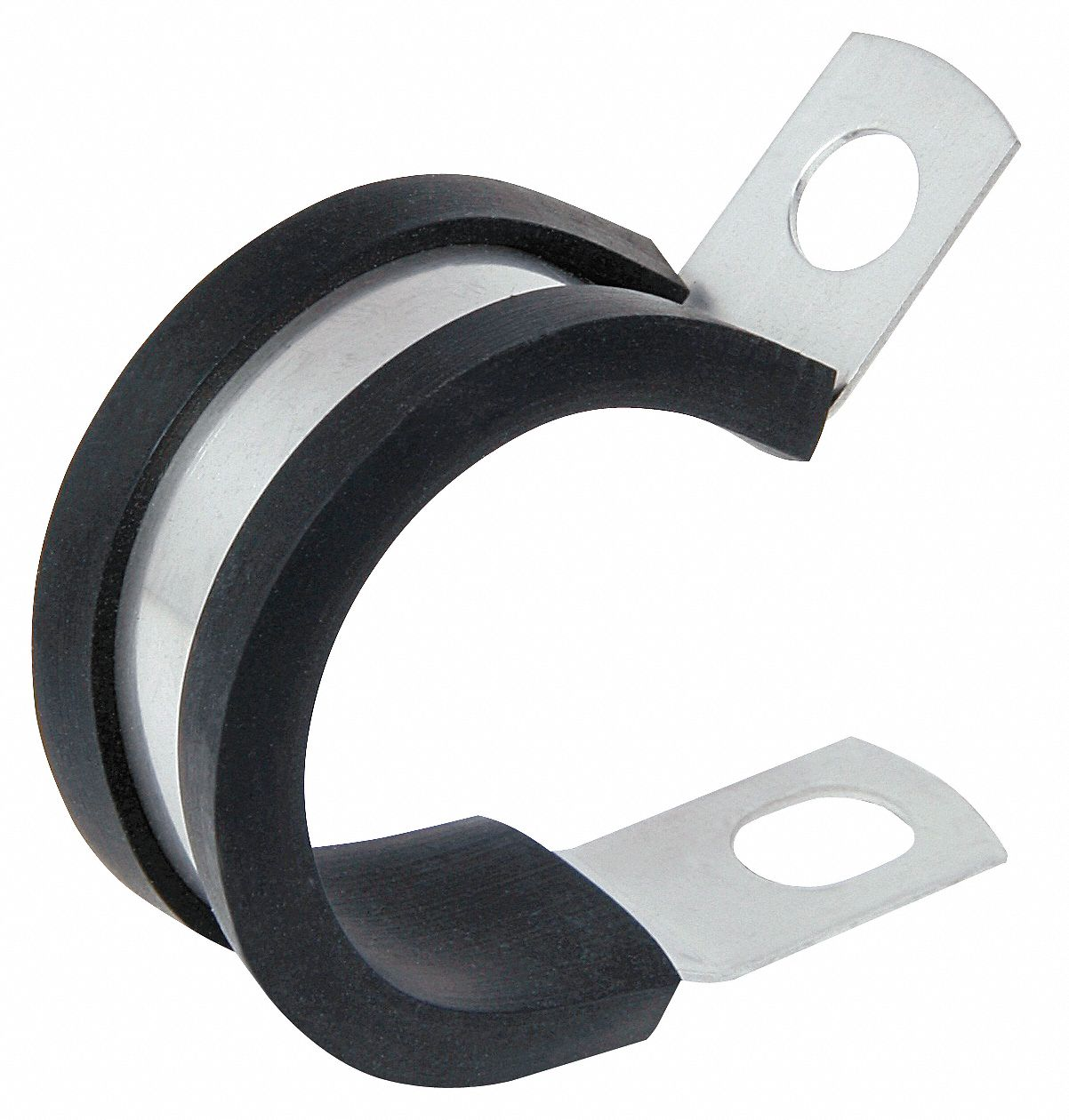 Clamp,  Cushioned Cable Clamp,  Steel,  1 3/4 in Cable Clamping Dia.,  0.048 in Clamp Thickness