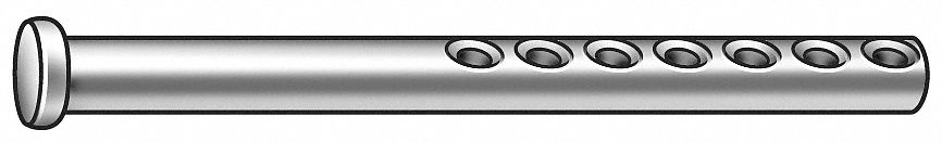 Steel Clevis Pin, 2 in L, 3/8 in Pin Dia.
