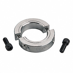 2024 Aluminum Shaft Collar, Clamp Collar Style, Metric Dimension Type, 30mm Bore Dia.