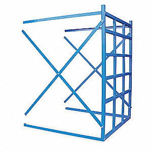 "48-1/2"" x 48"" x 60"" 11 ga. Steel Bulk Storage Rack Add-On Unit, Blue&#x3b; Number of Shelves: 15"
