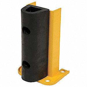 "Pallet Rack Protector with Bumper, Steel, 8-1/16"" Overall Width, 12-1/4"" Overall Height"