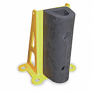 "Pallet Rack Protector, Steel, 9-7/16"" Overall Width, 24-1/4"" Overall Height, 10-1/4"" Overall Length"