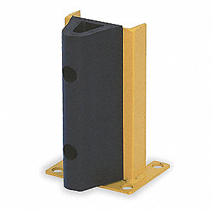 "Pallet Rack Protector with Bumper, Steel, 8-1/16"" Overall Width, 18-1/4"" Overall Height"